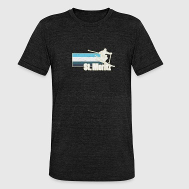 St Moritz St. Moritz ski winter - Unisex Tri-Blend T-Shirt by Bella & Canvas