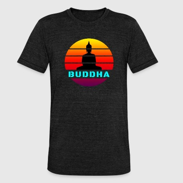 Buddha Feng Shui Buddha Circle / Gift Religion Yoga Meditation - Unisex Tri-Blend T-Shirt by Bella & Canvas