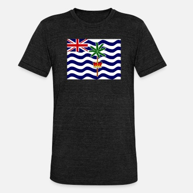 Indian Ocean Flag of British Indian Ocean (io) - Unisex Tri-Blend T-Shirt by Bella & Canvas