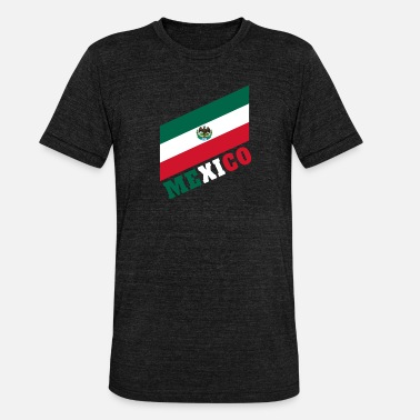 Guadalajara Mexiko / Mexico Geschenk Nationalflagge Flagge - Unisex tri-blend T-shirt fra Bella + Canvas