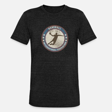 Internationale Spiele handball spieler international - Unisex Tri-Blend T-Shirt von Bella + Canvas