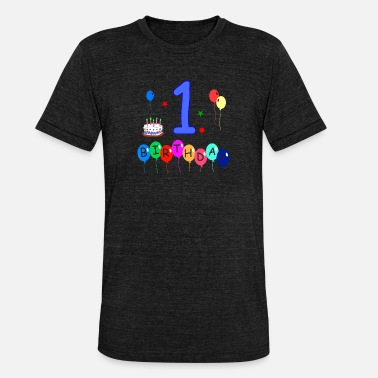 1st Birthday 1st birthday - Unisex Tri-Blend T-Shirt