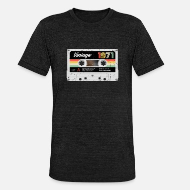 Vintage Vintage cassette 1971 Retro Classic year of birth - Unisex Tri-Blend T-Shirt