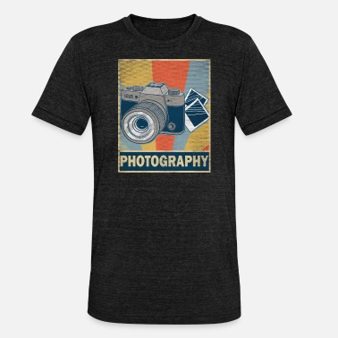 Colorful retro vintage photography hobby gift idea - Unisex Tri-Blend T-Shirt