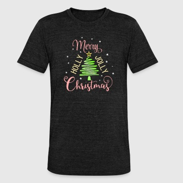 Holly Merry Holly Jolly Christmas - Unisex tri-blend T-shirt van Bella + Canvas