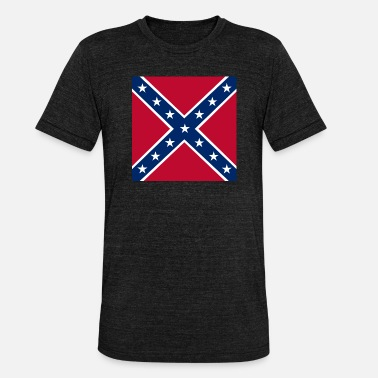 Battle flag of the Confederate States of America - Unisex T-Shirt meliert