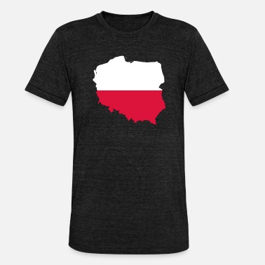 Bainderas Poland - Unisex Tri-Blend T-Shirt by Bella & Canvas