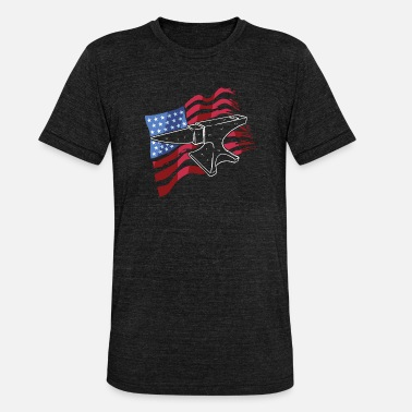 Sheet Metal Worker US metal steel worker patriot gift - Unisex Tri-Blend T-Shirt