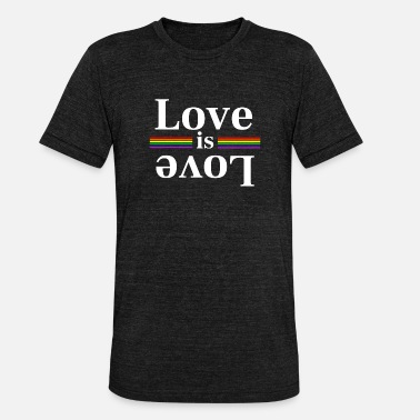 Rainbow Stripes LOve is Love Rainbow Stripes - Unisex Tri-Blend T-Shirt by Bella & Canvas