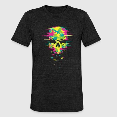 Acid House Music Calavera Techno - Camiseta Tri-Blend unisex de Bella + Canvas