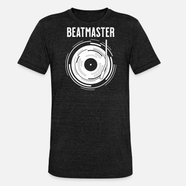 Discjockey beatmaster | dj vinyl discjockey vinyl beat - Unisex tri-blend T-shirt fra Bella + Canvas