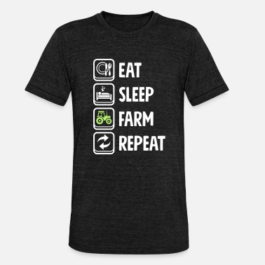 Agra Ät Sleep Farm Farm Repeat - Triblend-T-shirt unisex från Bella + Canvas