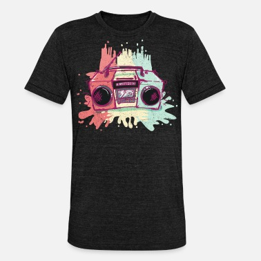 Ghetto Blaster Old School Ghetto Blaster - Unisex T-Shirt meliert