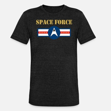 The Force Awakens Space Force USSF United States Space Force Military Trump Gold - Unisex Tri-Blend T-Shirt by Bella & Canvas