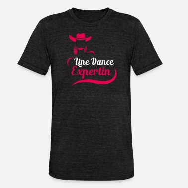 Country Line Dance Expertin Geschenk Linedance Country - Unisex T-Shirt meliert