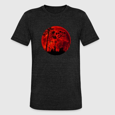 Full Blood Full moon blood red - Unisex Tri-Blend T-Shirt by Bella & Canvas