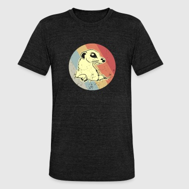 Meerkat mongoose retro gift - Unisex Tri-Blend T-Shirt by Bella & Canvas