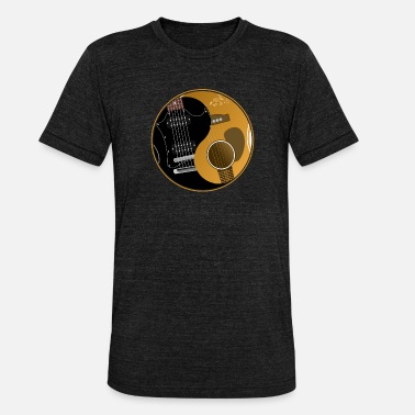 Lover Ying Yang guitar guitarist shirt gift - Unisex Tri-Blend T-Shirt by Bella & Canvas