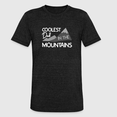Coolest Dad in the mountains - Unisex Tri-Blend T-Shirt von Bella + Canvas