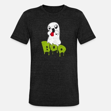 Tilholdssted Boo - Sweet Ghost Halloween Moro gave til barn - Unisex tri-blend T-skjorte fra Bella + Canvas