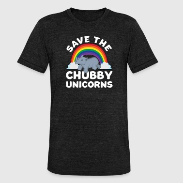 Save the Chubby Unicorns unicorn chubby gift - Unisex Tri-Blend T-Shirt by Bella & Canvas