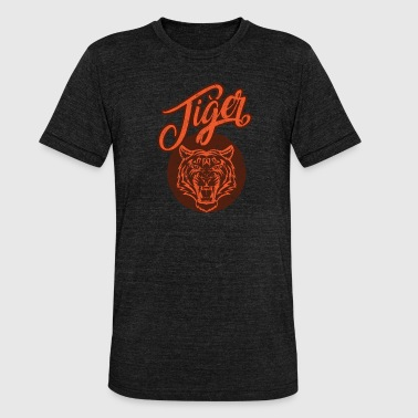 Tiger Style Tiger retro vintage style - Unisex Tri-Blend T-Shirt by Bella & Canvas