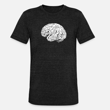 Neurology Brain anatomy Neurologist Doctor Doctor Neurology - Unisex Tri-Blend T-Shirt by Bella & Canvas