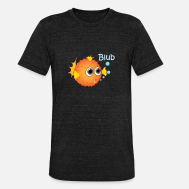 Puffer Fish Puffer fish blub underwater in the ocean - Unisex Tri-Blend T-Shirt