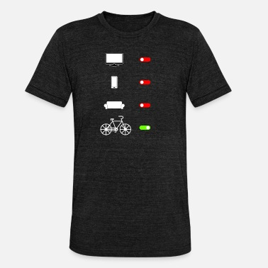 Everyday Life Everyday life from bike to - Unisex Tri-Blend T-Shirt by Bella & Canvas