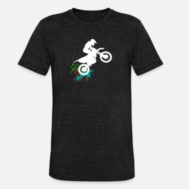 Cross Motor Motor Cross Splash - Unisex tri-blend T-shirt van Bella + Canvas
