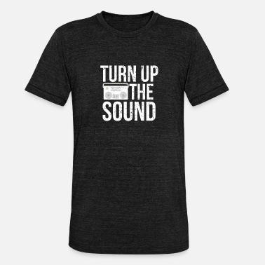 Charts Turn Up Sound I Musiikki Radio Beat Charts DJ Disco - Bella + Canvasin unisex Tri-Blend t-paita.