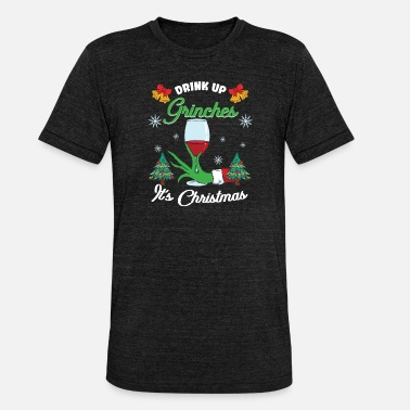 Grinch Jul Grinches & Grinch Red Wine Winter - Unisex triblend T-skjorte