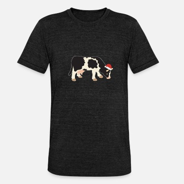 Dairy Cow Cow christmas dairy cow farm gift milk - Unisex Tri-Blend T-Shirt