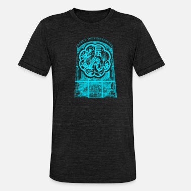 Mythical Beast The mythical beast dragon head monster creature - Unisex Tri-Blend T-Shirt