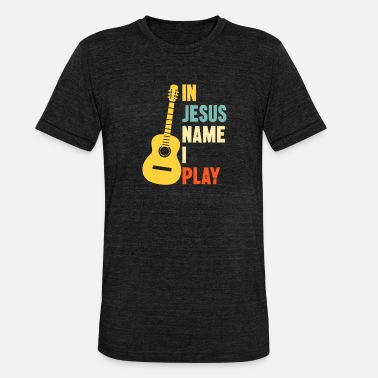 Name Gitarre In Jesus Name I Play - Unisex T-Shirt meliert