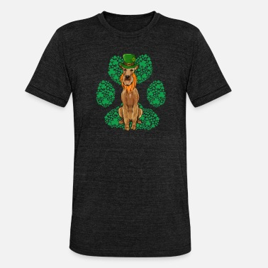 Leprechaun Pointer St Patricks Day Shamrock Paw - Unisex triblend T-shirt