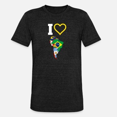 South America The Love Of South America - Unisex Tri-Blend T-Shirt