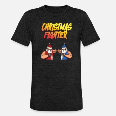 Beat Em Up Chirstmas Fighter - retro style for Christmas - Unisex Tri-Blend T-Shirt