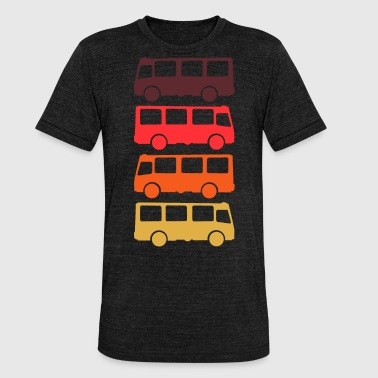 Transport Bus Transporter Retro - Unisex Tri-Blend T-Shirt by Bella & Canvas