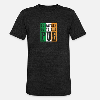 Irish At The Bar gift for Irish People - Unisex Tri-Blend T-Shirt