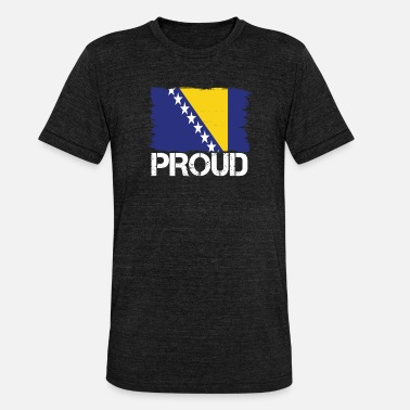 Bosnien Pride flag flag home origin Bosnia and Herzegovina - Unisex Tri-Blend T-Shirt