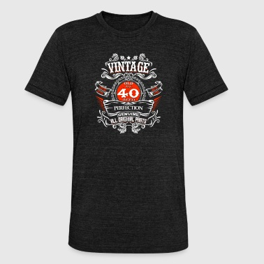 30 Vintage 40 Years Birthday 1978 Gift Limited - Unisex Tri-Blend T-Shirt by Bella & Canvas