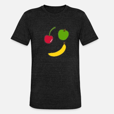 Illustration Fruit, fruits, cartoon, gift idea - Unisex Tri-Blend T-Shirt