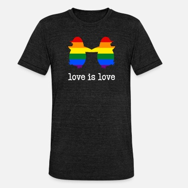 Pride Love Is Love Love is Love Penguin - Unisex Tri-Blend T-Shirt