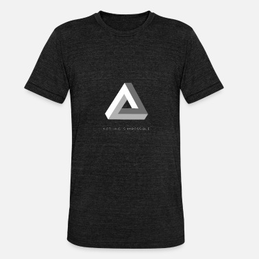 Impossible Triangle Optical Triangle | nothing is impossible optical illusion - Unisex Tri-Blend T-Shirt by Bella & Canvas