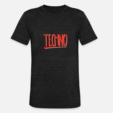 Hard Techno TECHNO - Camiseta Tri-Blend unisex de Bella + Canvas