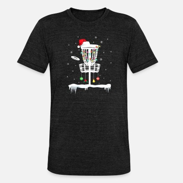 Discovery Disc Golf Funny Frisbee Sports Gift With Christmas - Unisex triblend T-skjorte