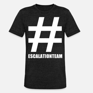 Pression Du Groupe Hashtag Escalationteam Escalationteam Team Group # - T-shirt chiné Bella + Canvas Unisexe