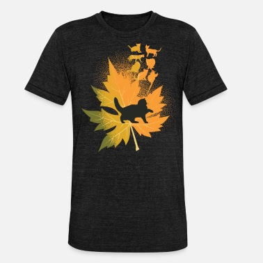 cat leaf design - Unisex Tri-Blend T-Shirt