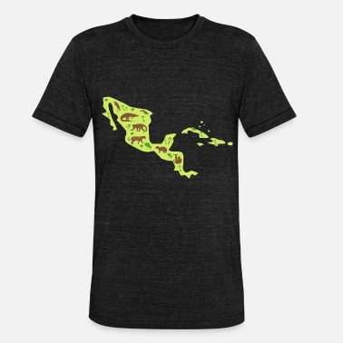 Central America Central America Travel Map Central America - Unisex Tri-Blend T-Shirt